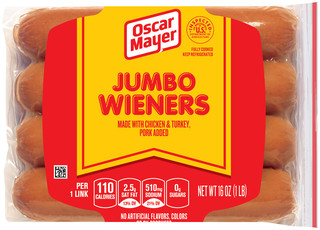 Food on oscar mayer selects turkey dogs