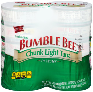bumble bee chunk light tuna 10 pk. Black Bedroom Furniture Sets. Home Design Ideas