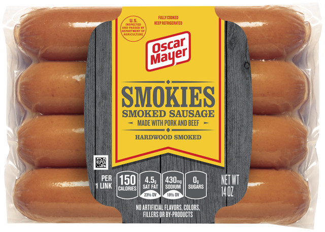 7B5EC770 6B8B 11E1 AFF9 1231380C18FB additionally 6376 Oscar Mayer Smokies Smoked Sausages also  on oscar mayer selects beef sausage nutrition