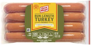 OSCAR MAYER BUN-LENGTH Turkey Franks