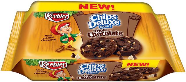 keebler triple chocolate chips deluxe cookies food my commissary