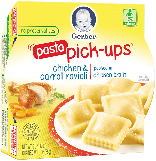 Gerber Graduates Pasta Pick Ups Chicken Amp Carrot Ravioli