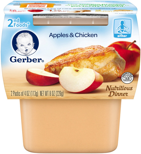 Gerber 2nd Foods Apples Amp Chicken Baby My Commissary My