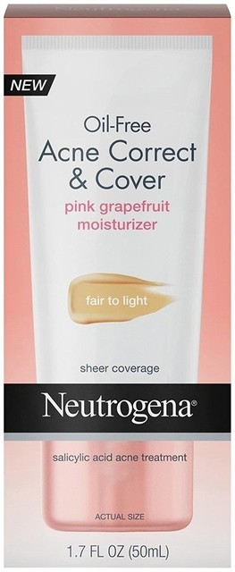 Oil-Free Acne Correct & Cover Pink Grapefruit Moisturizer by Neutrogena #12