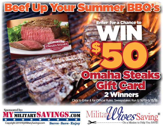 MyMilitarySavings com $50 Omaha Steaks Gift Card Sweepstakes