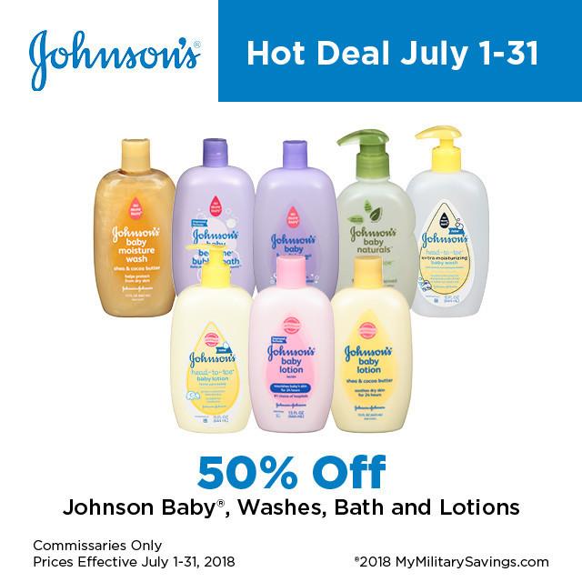 Johnson Baby July Savings