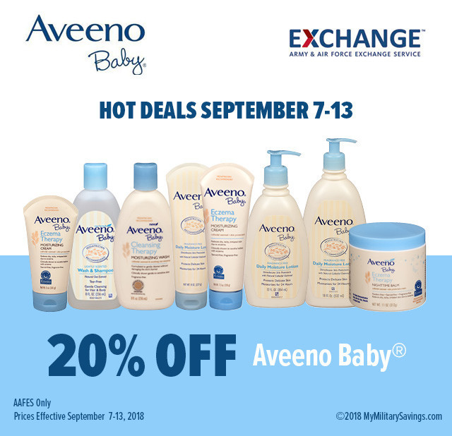 Aveeno Baby September Savings