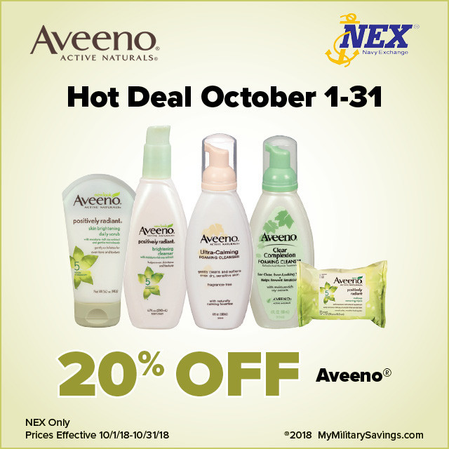 Aveeno October Savings