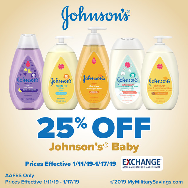 Johnson's® Baby January AAFES Savings