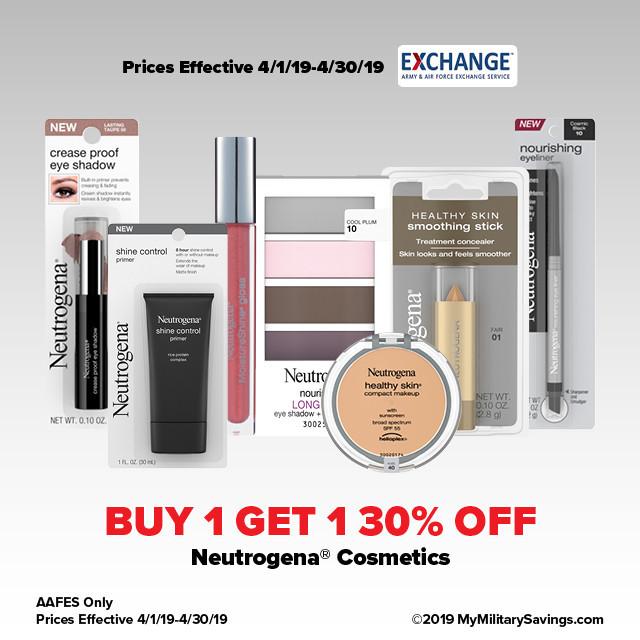 Neutrogena® Cosmetics April AAFES Savings