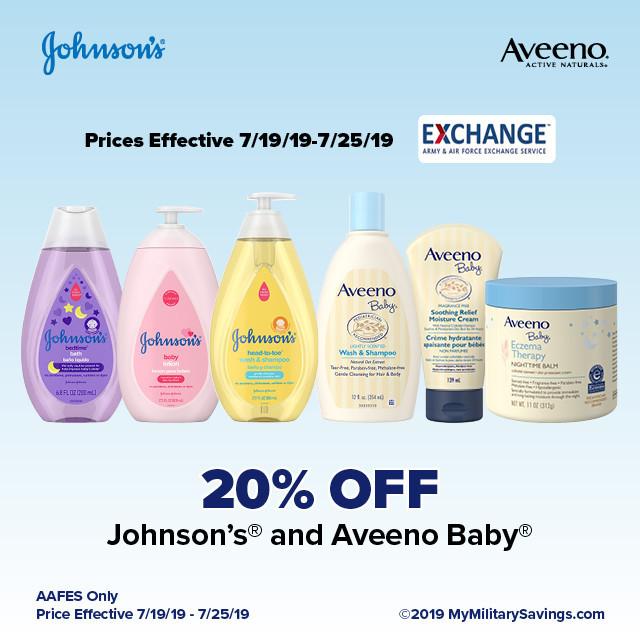 Johnson's® and Aveeno Baby® July AAFES Savings