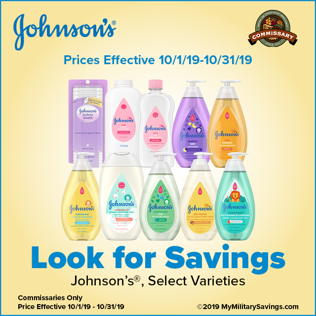 Save on Johnson's® at the Commissary!